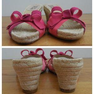 Salvatore Ferragamo Shoes - $595~FERRAGAMO~Pink Ribbon Espadrille Sandal~8.5/9